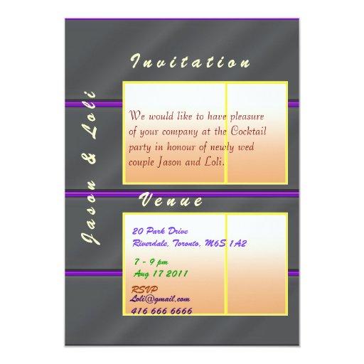 """Cóctel de oro de Jason y del boda de la chispa de Invitación 5"""" X 7"""""""