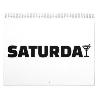 Cóctel de sábado calendarios