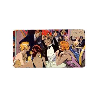 Cóctel del club nocturno del art déco del vintage