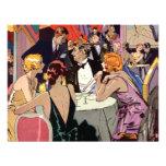 Cóctel del club nocturno del art déco del vintage invitaciones personales