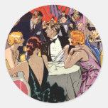 Cóctel del club nocturno del art déco del vintage pegatina