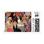 Cóctel del club nocturno del art déco del vintage sellos