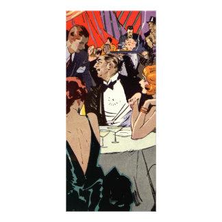Cóctel del club nocturno del art déco del vintage tarjetas publicitarias