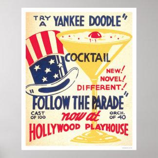 Cóctel del Doodle del yanqui WPA 1938 Poster