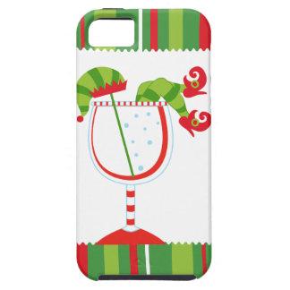 Cóctel del duende del navidad iPhone 5 fundas