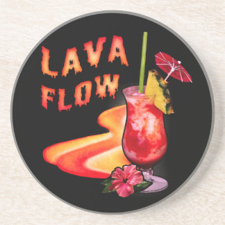 Cóctel del flujo de lava posavaso para bebida
