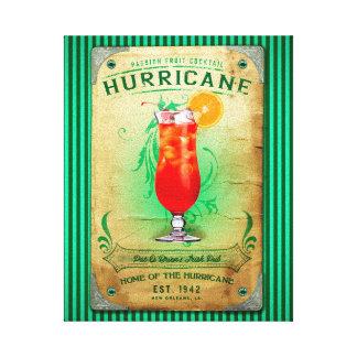 Cóctel del huracán lienzo envuelto para galerias
