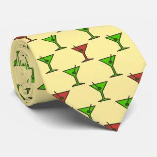 Cóctel del navidad del tiempo de Martini bilateral Corbatas