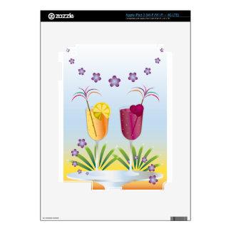 Cóctel del verano pegatinas skins para iPad 3