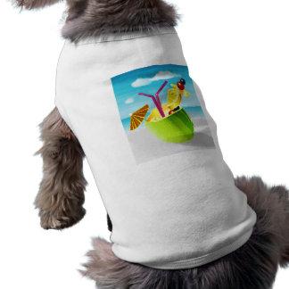 Cóctel en un coco playera sin mangas para perro