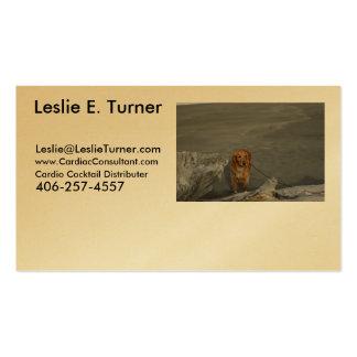 - - Cóctel - Leslie cardiia E. Turner - Tarjetas De Visita
