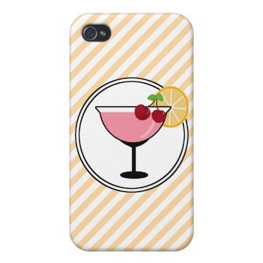Cóctel lindo y caja roja del iPhone de la cereza iPhone 4 Cobertura