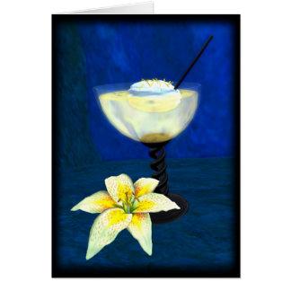 Cóctel: Merengue del limón Tarjeta De Felicitación