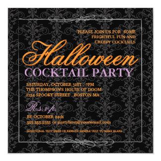Cóctel negro elegante de Halloween del cordón Anuncio Personalizado