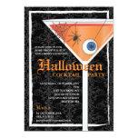 """Cóctel negro elegante de Halloween del cordón Invitación 5"""" X 7"""""""