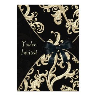 Cóctel poner crema negro invitación 12,7 x 17,8 cm