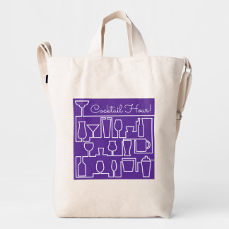 Cóctel púrpura bolsa de lona duck