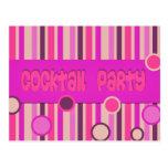 cóctel púrpura rosado postal