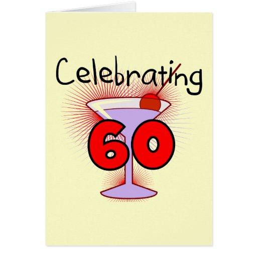 Cóctel que celebra 60 camisetas y regalos tarjeta