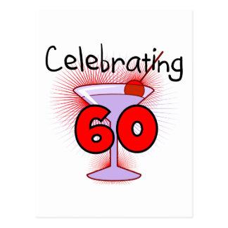 Cóctel que celebra 60 camisetas y regalos tarjeta postal