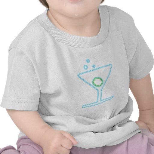 Cóctel reclamo de neón neon sign camiseta