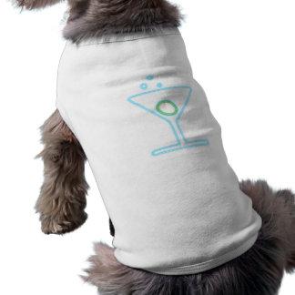 Cóctel reclamo de neón neon sign playera sin mangas para perro