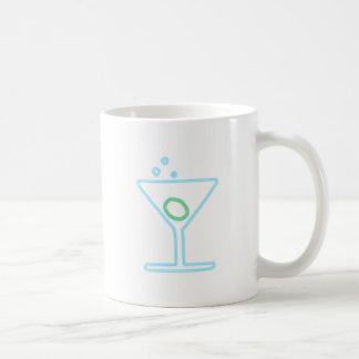Cóctel reclamo de neón neon sign taza de café