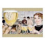 Cóctel retro de los años 50 invitación 12,7 x 17,8 cm