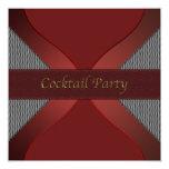 Cóctel rojo y negro elegante moderno Invitati Invitaciones Personales