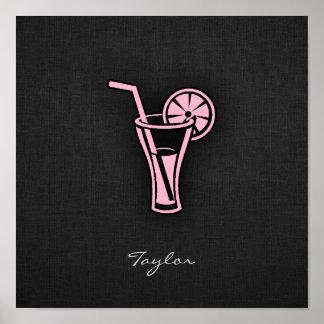 Cóctel rosa claro póster