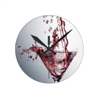 Cóctel rosado 3 relojes de pared