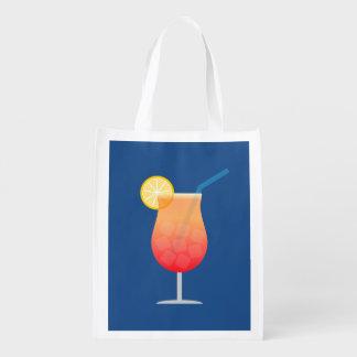 Cóctel tropical - bolso reutilizable adaptable bolsas de la compra