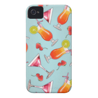 Cóctel tropical de Kawaii Case-Mate iPhone 4 Cárcasas