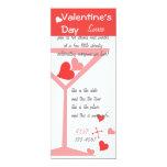 """Cócteles de la tarjeta del día de San Valentín Invitación 4"""" X 9.25"""""""