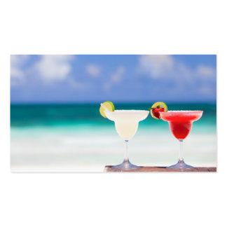 Cócteles en la playa tarjeta de visita