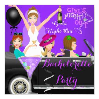 """Cócteles púrpuras 1 del coche del Limo de la Invitación 5.25"""" X 5.25"""""""