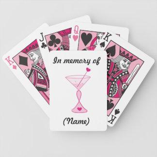Cócteles Tarjeta-Rosados personalizados del cáncer Barajas De Cartas