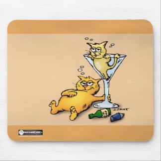 Cócteles y cojín de ratón del dibujo animado del o alfombrillas de ratones