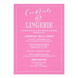 Cócteles y rosa de las invitaciones el de la duc invitacion personalizada
