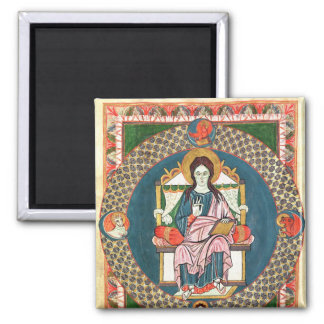 Cod. 1948 Christ in Majesty 2 Inch Square Magnet