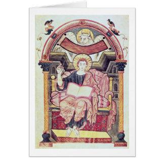 Cod 22. f.85v St. Luke the Evangelist, from Treves Card