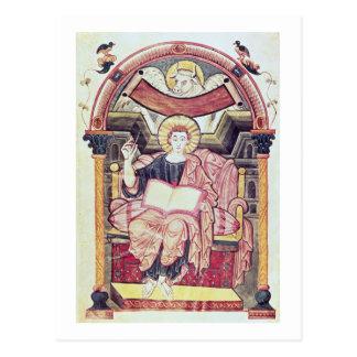 Cod 22. f.85v St. Luke the Evangelist, from Treves Postcard