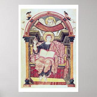 Cod 22. f.85v St. Luke the Evangelist, from Treves Poster