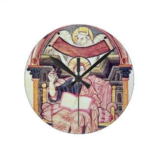 Cod 22. f.85v St. Luke the Evangelist, from Treves Round Clock