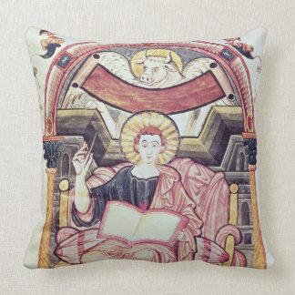Cod 22. f.85v St. Luke the Evangelist, from Treves Throw Pillow