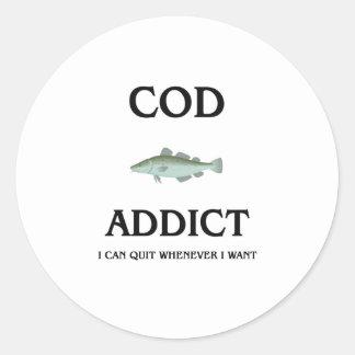 Cod Addict Classic Round Sticker