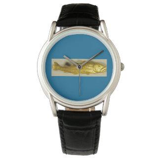 Cod, Codfish Gold Pin Watch