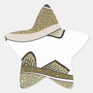 Cod Fish Star Sticker