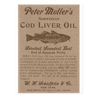 Cod Liver Oil Postcard