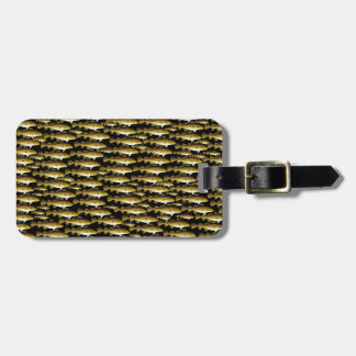 Cod Pattern on black Luggage Tag